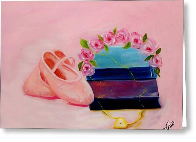 Ballet Still Life Greeting Card by Joni McPherson