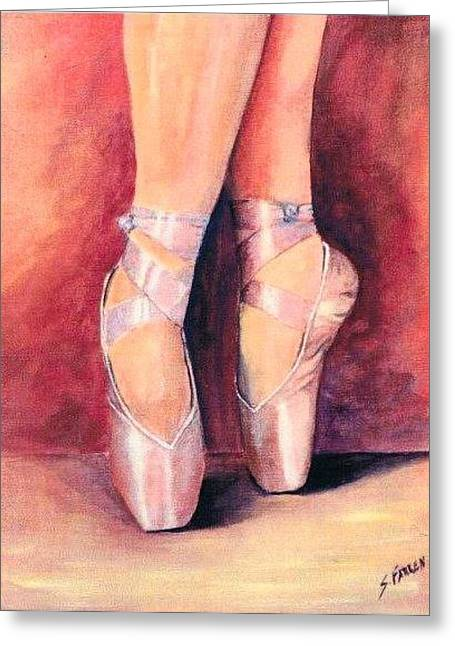 Ballet Toes Greeting Card