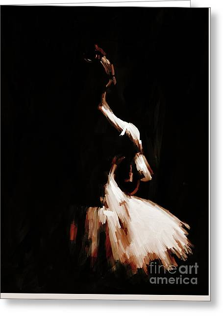 Ballet Woman 9j Greeting Card by Gull G