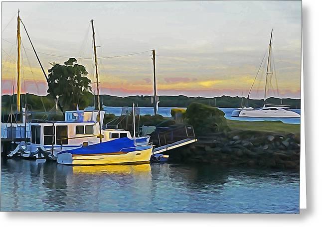 Ballina Boats Greeting Card by Dennis Cox WorldViews