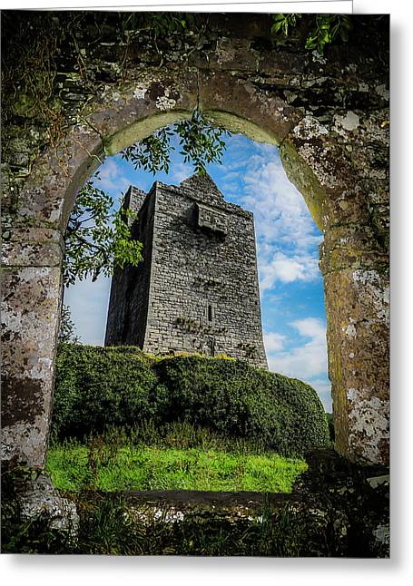 Greeting Card featuring the photograph Ballinalacken Castle In County Clare, Ireland by James Truett