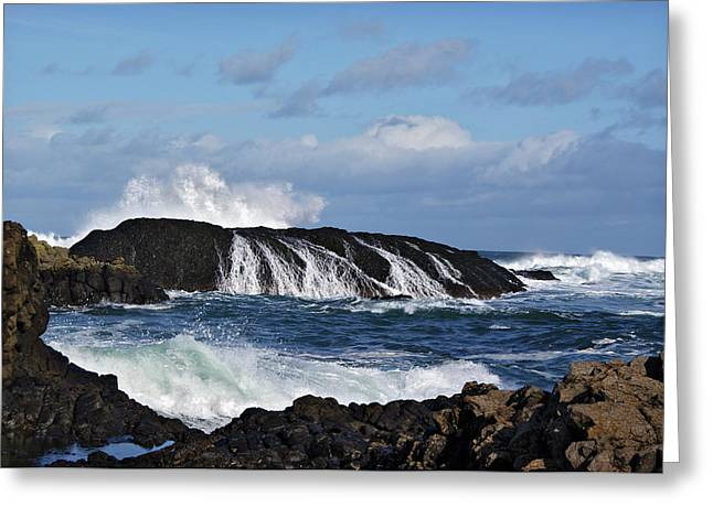 Greeting Card featuring the photograph Ballintoy Rocks by Colin Clarke