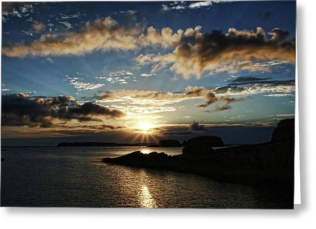 Ballintoy Sunrise Greeting Card