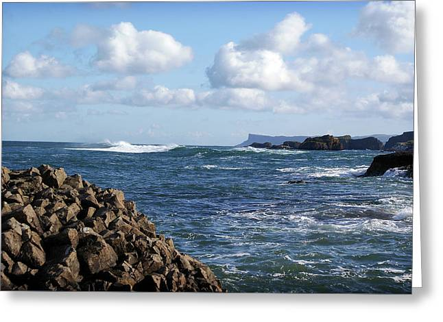 Greeting Card featuring the photograph Ballintoy View by Colin Clarke