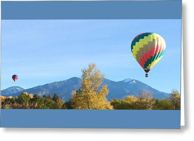 Ballons At Taos Mountain Greeting Card