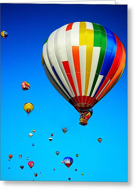 Balloon Festival Greeting Card by Juergen Weiss