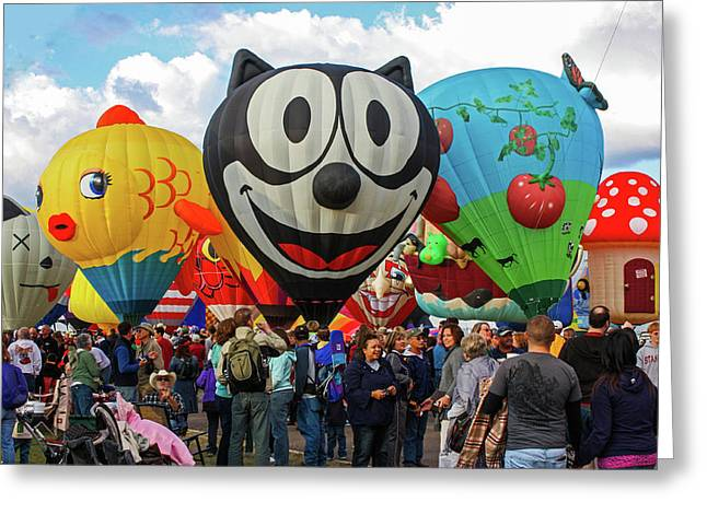 Balloon Fiesta Albuquerque II Greeting Card