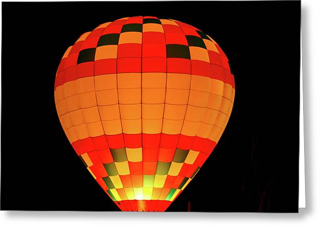 Balloon Glow 1 Greeting Card by Lone Dakota Photography