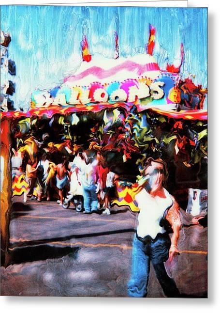 Balloon House Greeting Card by Paul Tokarski