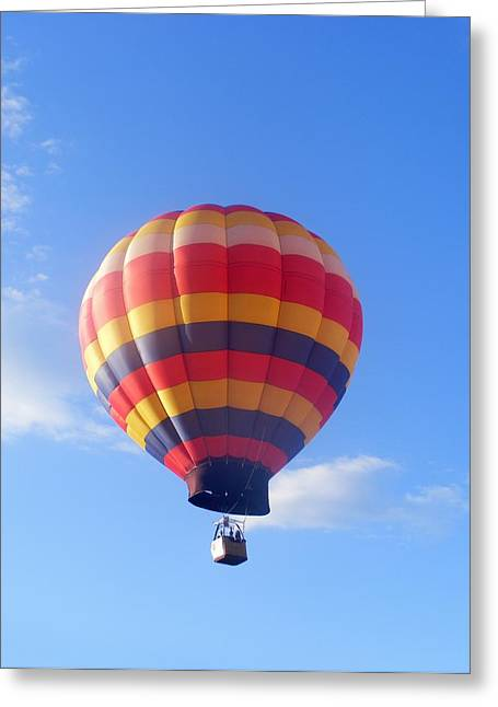Balloon In Flight Greeting Card by Eddie Armstrong