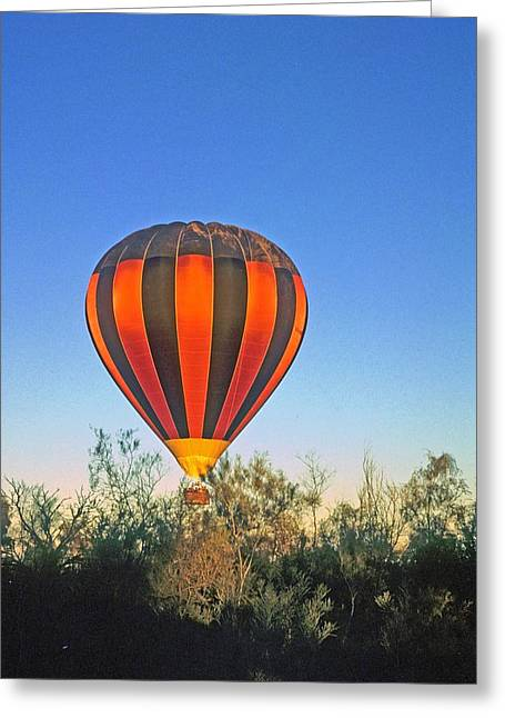 Greeting Card featuring the photograph Balloon Launch by Gary Wonning