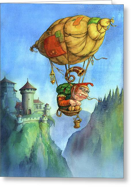 Balloon Ogre Greeting Card
