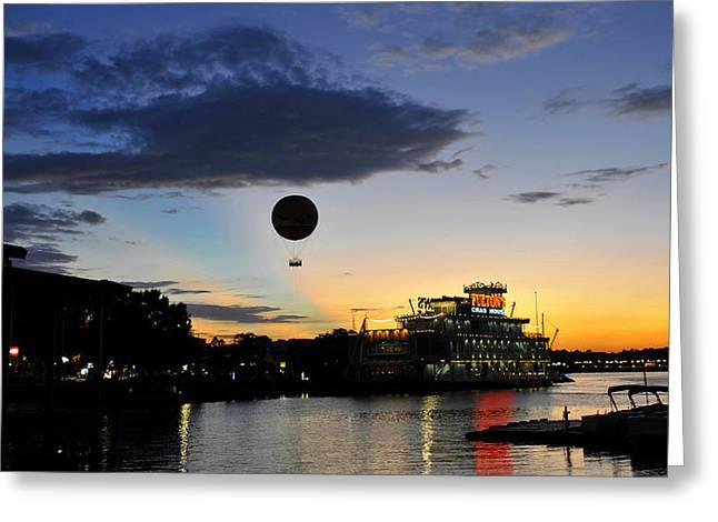 Balloon Over Disney Greeting Card