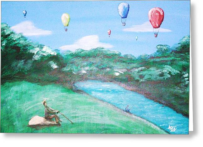 Balloon Race Greeting Card