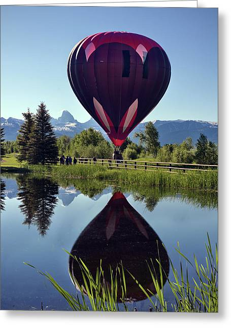 Balloon Reflection Greeting Card by Leland D Howard