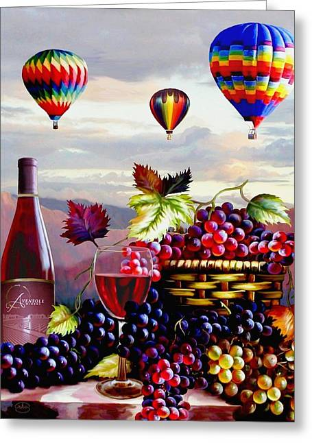 Balloon Ride At Dawn Greeting Card by Ron Chambers