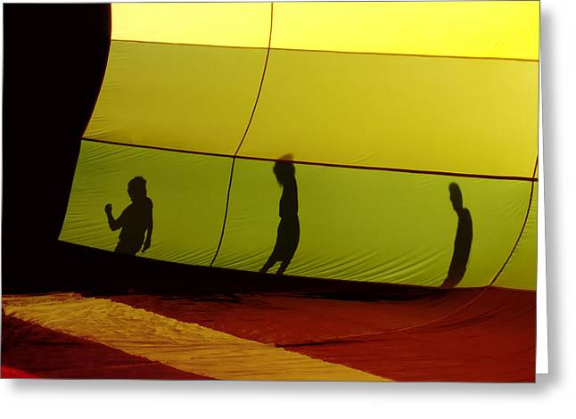 Balloon Shadows Greeting Card by Jim DeLillo