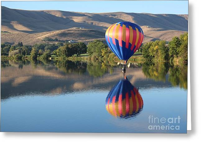 Balloon Touch Down Greeting Card by Carol Groenen