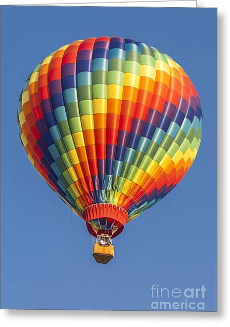 Ballooning In Color Greeting Card