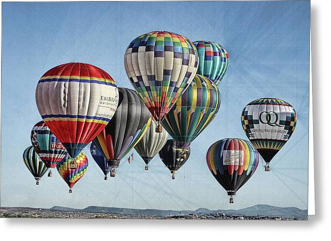 Ballooning Greeting Card by Marie Leslie