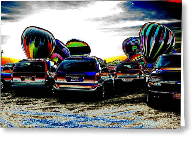 Balloons Greeting Card by Greg Patzer