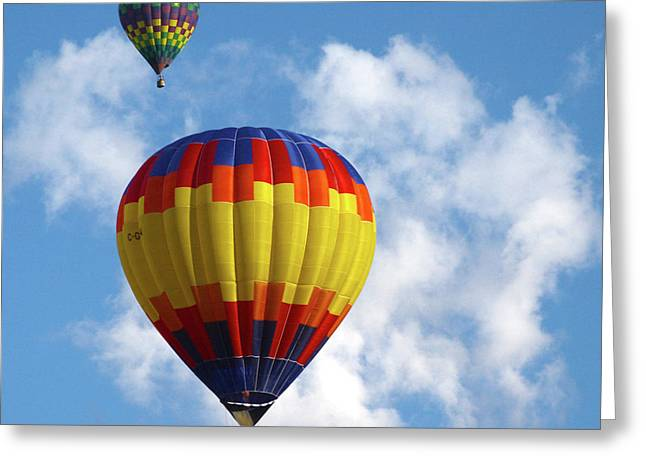 Balloons In The Cloud Greeting Card by Marie Leslie