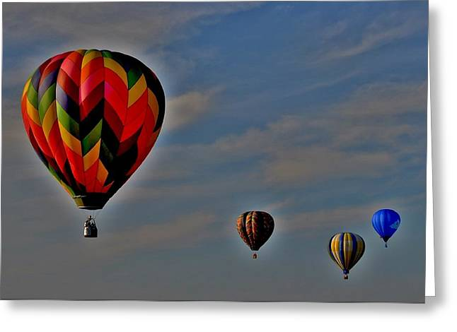Balloons In The Sky Greeting Card