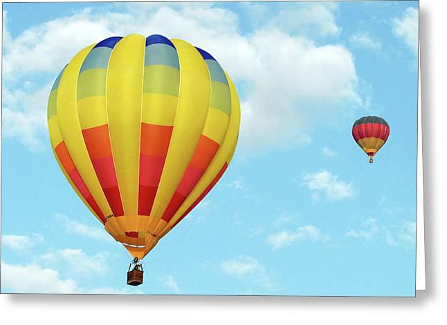 Aeronautics Greeting Cards - Balloons over Dubai Greeting Card by Graham Taylor
