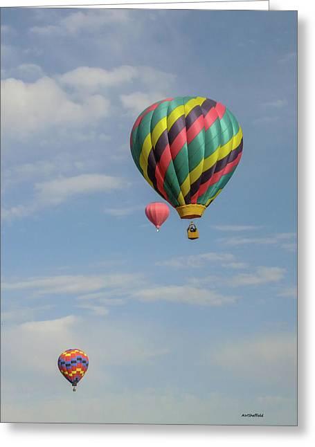 Balloons Over The Desert Greeting Card