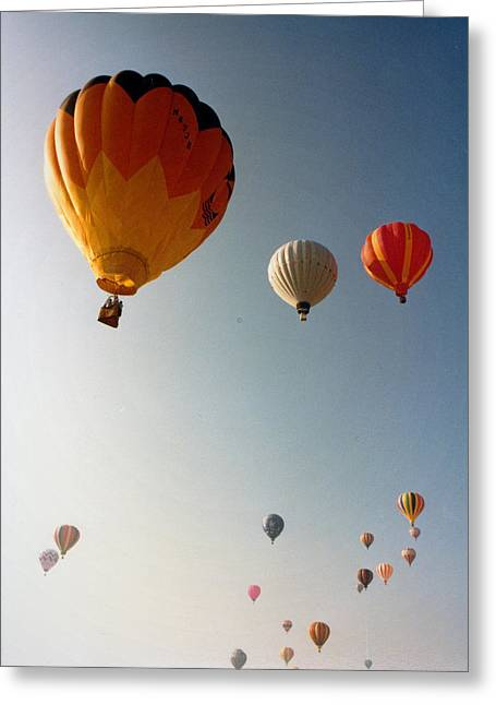 Balloons Greeting Card by Russ Mullen