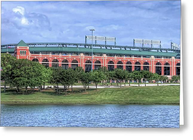 Ballpark In Arlington Now Globe Life Park Greeting Card