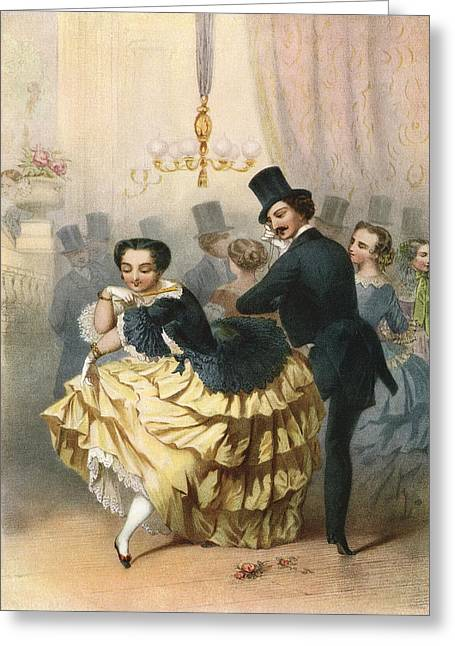 Ballroom Scene In The 19th Century Greeting Card by Vintage Design Pics