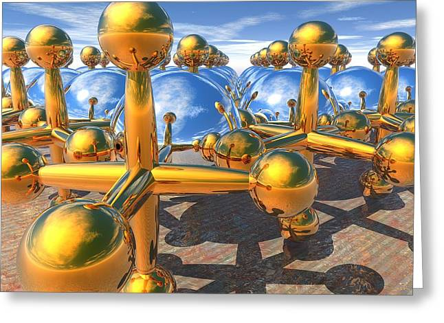 Lyle Hatch Greeting Cards - Balls and Jacks II Greeting Card by Lyle Hatch