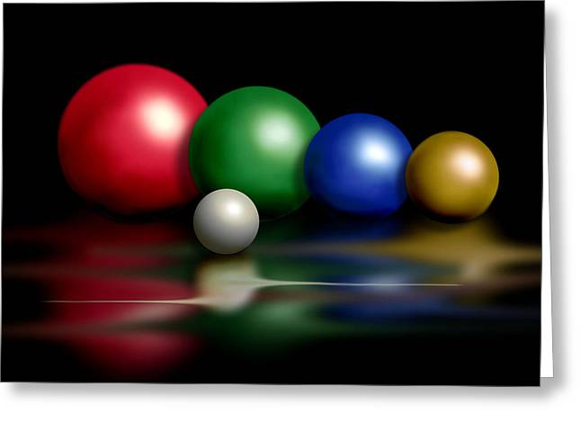 Balls On Black Greeting Card