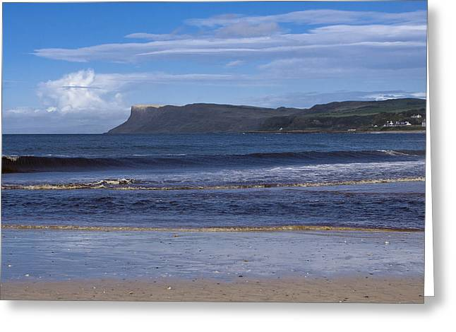 Ballycastle Beach Greeting Card by Trevor Buchanan