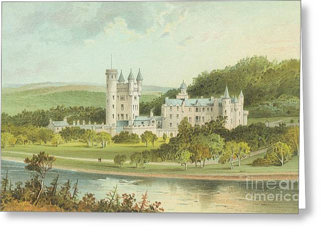 Balmoral Castle, Scotland Greeting Card by English School