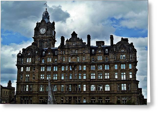 Balmoral Hotel Edinburgh Scotland. Greeting Card by Amanda Finan