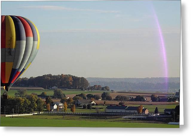 Baloon Ride Greeting Card by Vilas Malankar