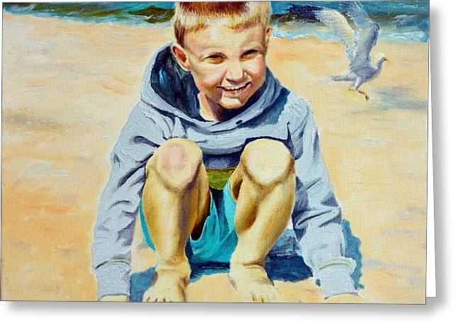 Baltic Beach Greeting Card by Henryk Gorecki