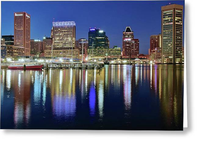 Baltimore Blue Hour Greeting Card