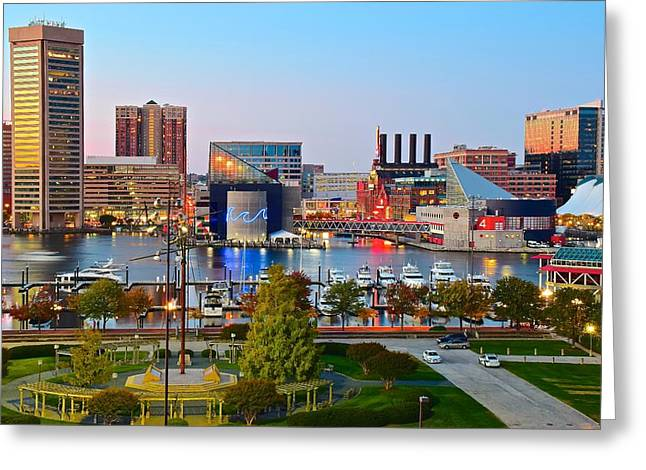 Baltimore From The Hill Greeting Card