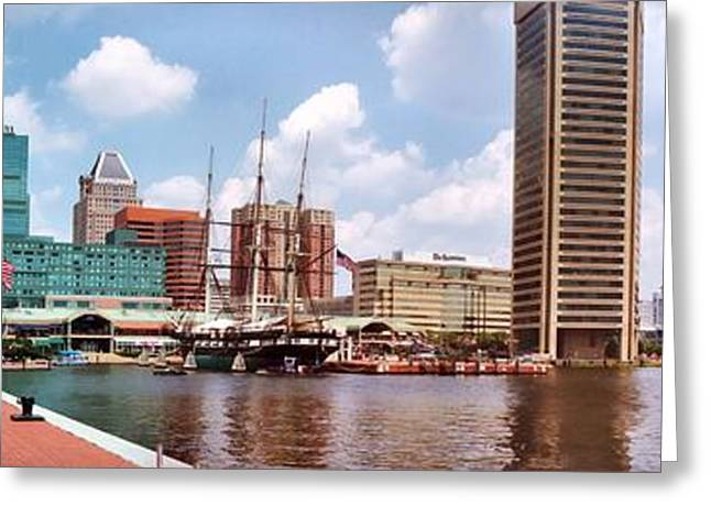 Baltimore Harbor Panorama Greeting Card