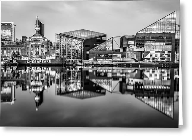 Baltimore In Black And White Greeting Card