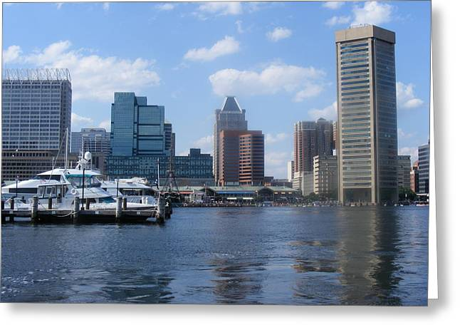 Baltimore Inner Harbor Greeting Card by James and Vickie Rankin