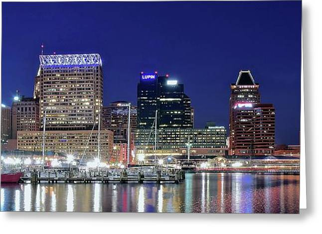 Baltimore Maryland City Panorama Greeting Card
