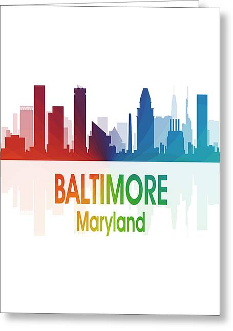 Baltimore Md 1 Vertical Greeting Card by Angelina Vick