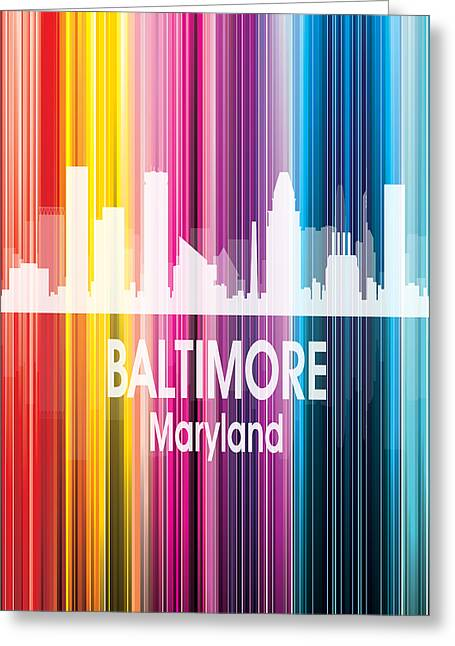 Baltimore Md 2 Vertical Greeting Card by Angelina Vick