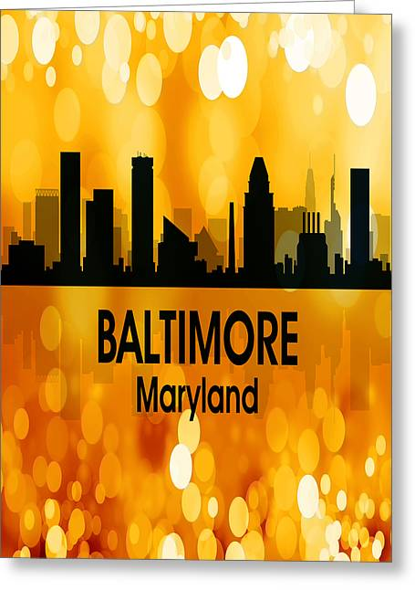 Baltimore Md 3 Vertical Greeting Card by Angelina Vick