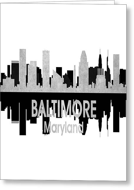 Baltimore Md 4 Vertical Greeting Card by Angelina Vick