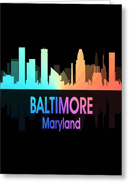 Baltimore Md 5 Vertical Greeting Card by Angelina Vick